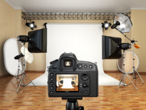 Professionell ausgestattete Kulisse für Fotoaufnahmen