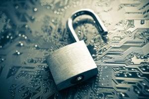 Ein geöffnetes Schloss steht symbolisch für Datenschutz