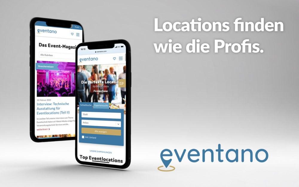 eventano Eventlocation finden wie die Profis