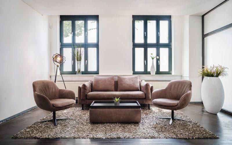 Sofa Garnitur mit Sessel und Couchtisch