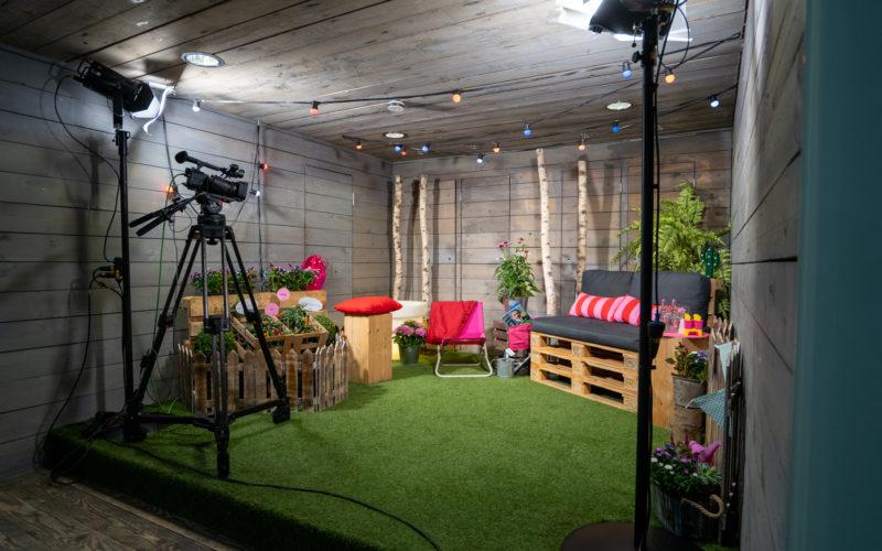 Filmstudio im Gartenstil